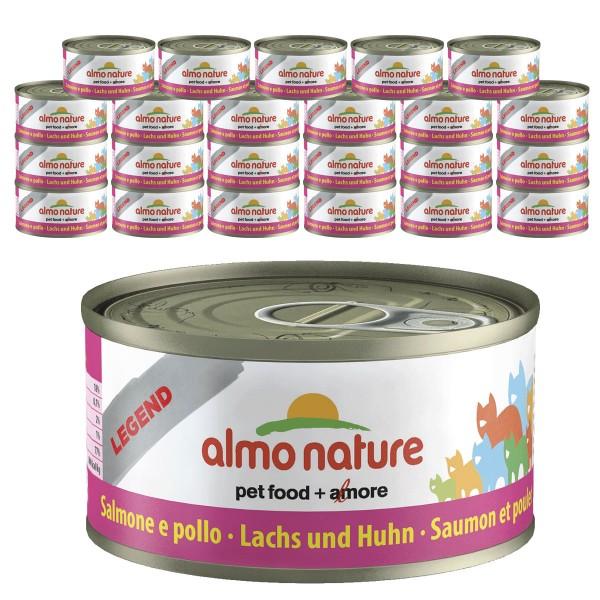Almo Nature Legend Katzenfutter 24x70gLachs & Huhn
