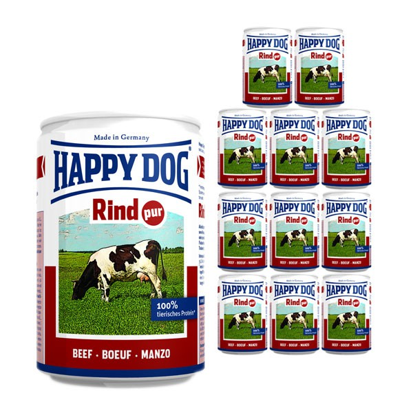 happy dog rind pur 12x400g g nstig kaufen bei zooroyal. Black Bedroom Furniture Sets. Home Design Ideas