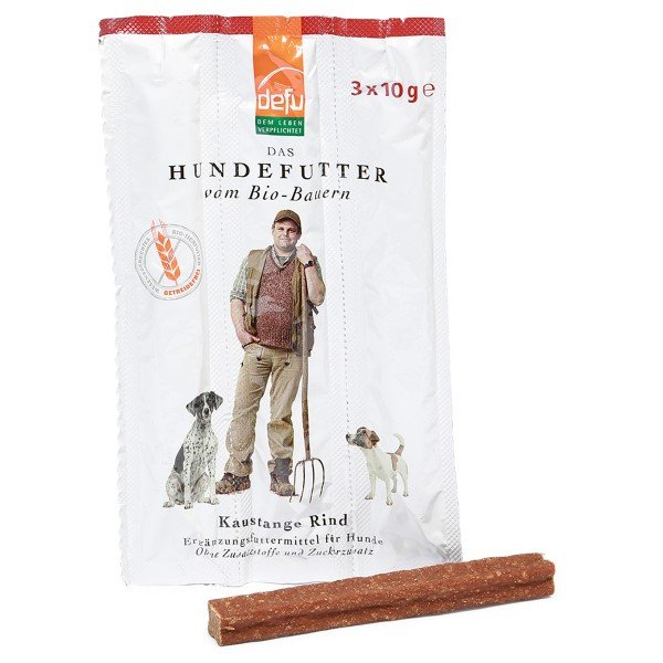 Defu Hundesnack Bio Kaustange Rind 30g (3x10g)