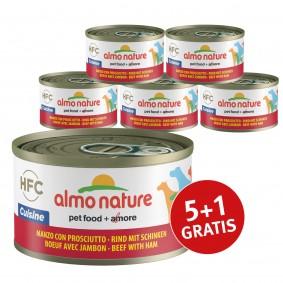 Almo Nature HFC Cuisine Dog Rind mit Schinken 5+1 gratis