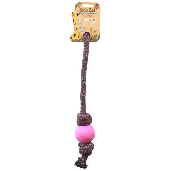 Beco Pets Spielball mit Seil pink