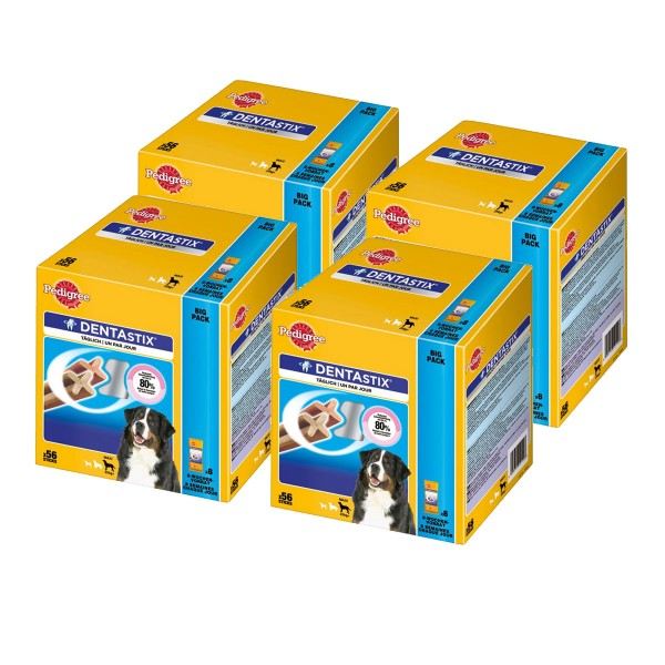 Pedigree Multipack Hundesnacks DentaStix für große Hunde 224 Stück