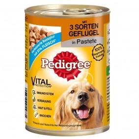 Pedigree Pâtée pour chiens à base de 3 sortes de volaille