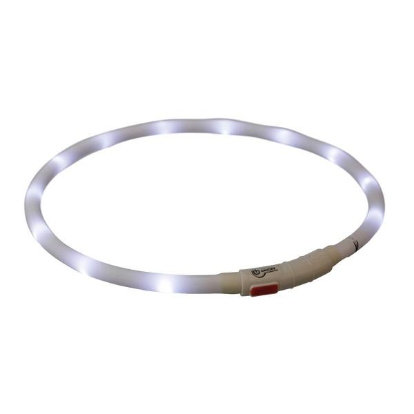 Trixie Leuchthalsband Flash USB XS-XL 70cm