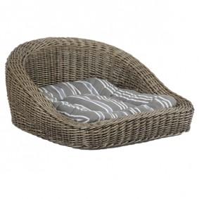 Panier pour chiens panier en osier lit pour chiens en plastique - Panier design pour chien ...