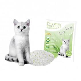 Europet Bernina - Litière pour chats Pure White Sensitive Aloe Vera 15 Litres