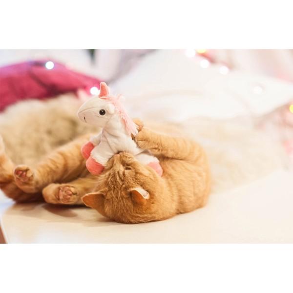 Aumüller Einhorn Katzenspielkissen aus Schmuseplüsch