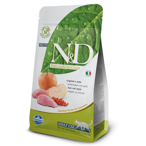 N&D Katzenfutter Wildschwein&Apfel Adult getreidefrei