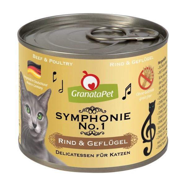 GranataPet Symphonie No. 1 Rind & Geflügel 6x200g