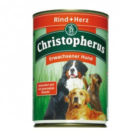 Christopherus Hunde-Nassfutter: Rind & Herz