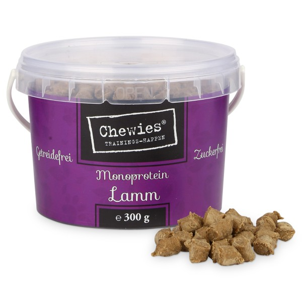 Chewies Hundesnack Trainings-Happen Lamm 300g