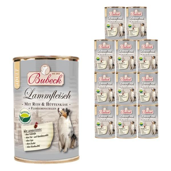 Bubeck Lammfleisch mit Reis & Hüttenkäse 12x410g