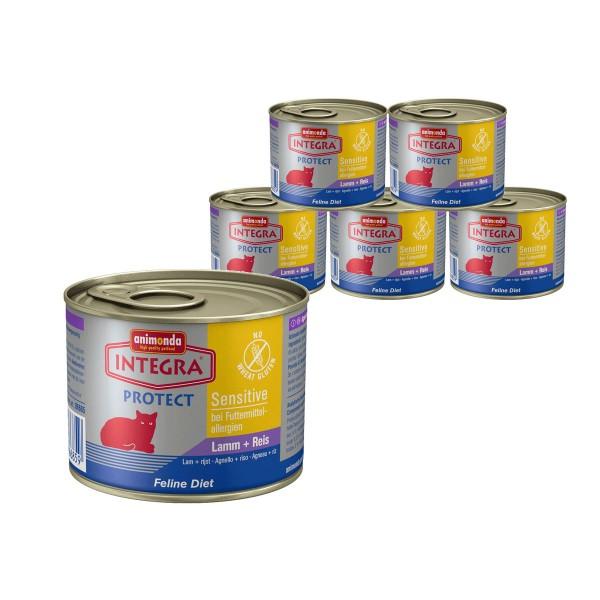 Animonda Katzen-Nassfutter Integra Sensitive Lamm und Reis