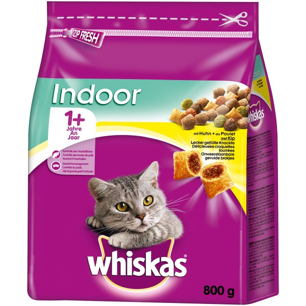 Whiskas Adult 1+ Indoor mit Huhn