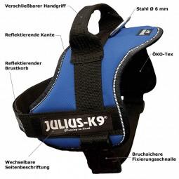 Julius-K9 Powergeschirr für Hunde Gr.0 58-76cm