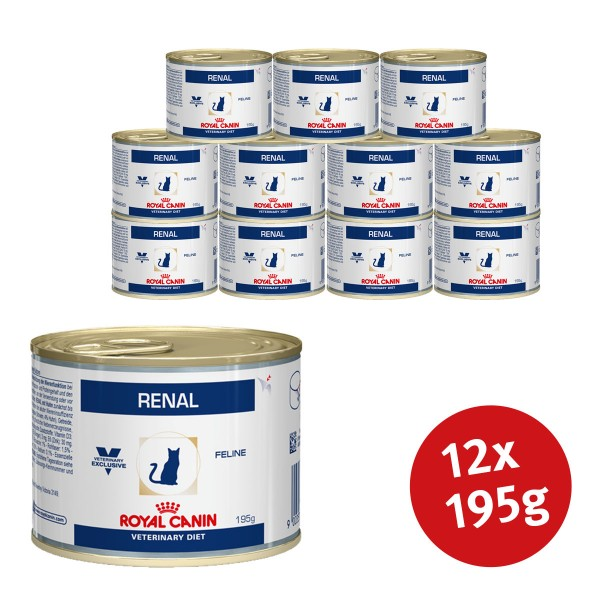 Royal Canin Vet Diet Nassfutter Renal - 12x195g