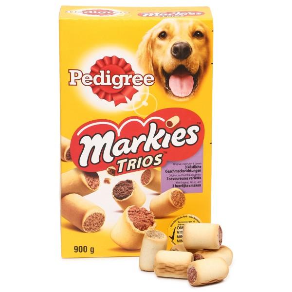 Pedigree Markies Trios mit Huhn, Lamm und Markknochen 900g