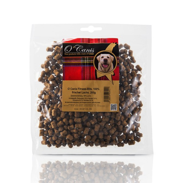 O´Canis Hundesnack Fitness-Bits Lachs 200g