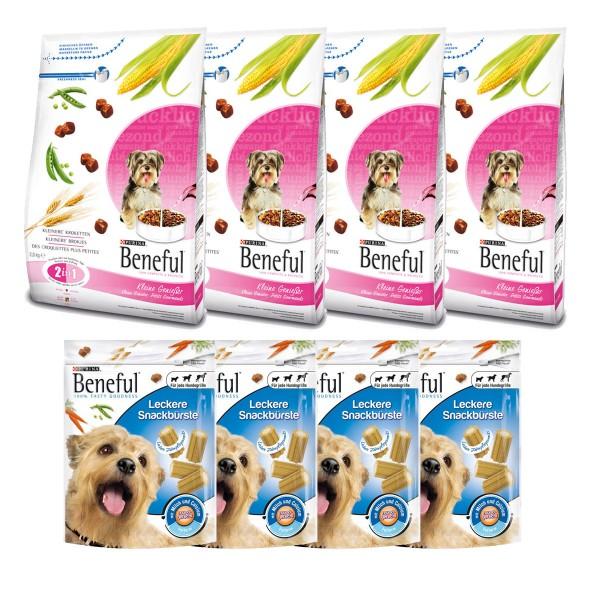 Beneful Bundle Trockenfutter 4x2,8/4x3kg + 4x Hundesnacks