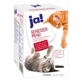 ja! Genießer Menü Multipack Fleisch für Katzen 15x100g