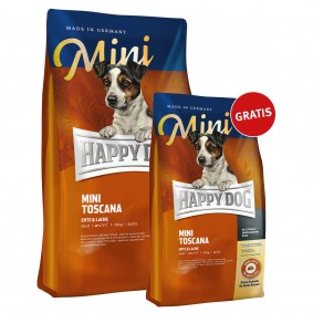 Happy Dog Mini Toscana 4kg+1kg gratis