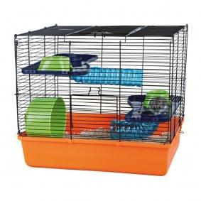Cage pour hamster et petits animaux comprenant un équipement standard