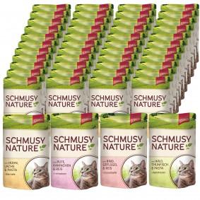 Schmusy Nature Menu vpraktických kapsičkách 48 × 100g, 4různé druhy