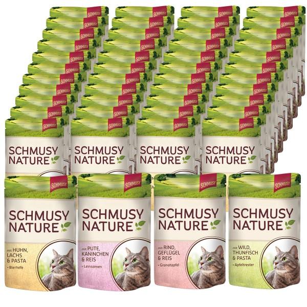 Schmusy Nature's Menü im Pouchbeutel 48x100g in 4 verschiedenen Sorten