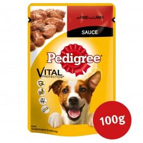 Pedigree Hundefutter mit Rind und Lamm in Sauce