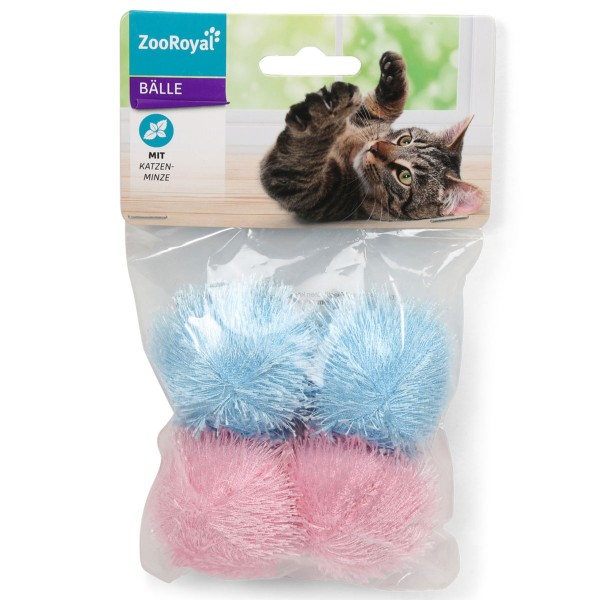 ZooRoyal Stoffball mit Katzenminze 4er Set