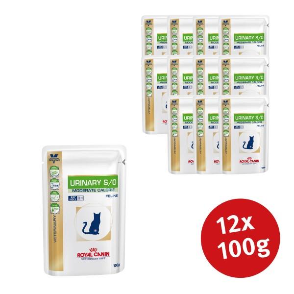 Royal Canin Vet Diet Nassfutter Urinary S/O Moderate Calorie - 12x100g - broschei
