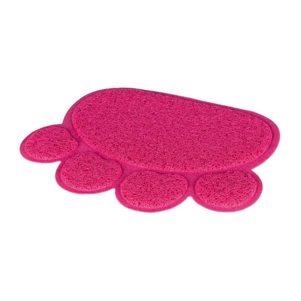 Trixie Vorleger für Katzentoiletten Pfote PVC 40×30cm pink