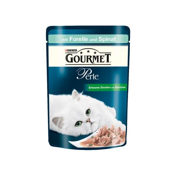 Gourmet Perle Erlesene Streifen mit Forelle & Spinat