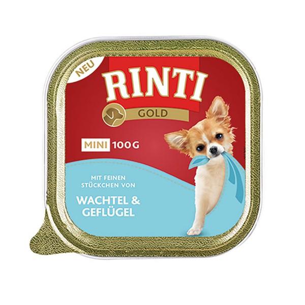 Rinti Hunde-Nassfutter Gold Mini Wachtel & Geflügel