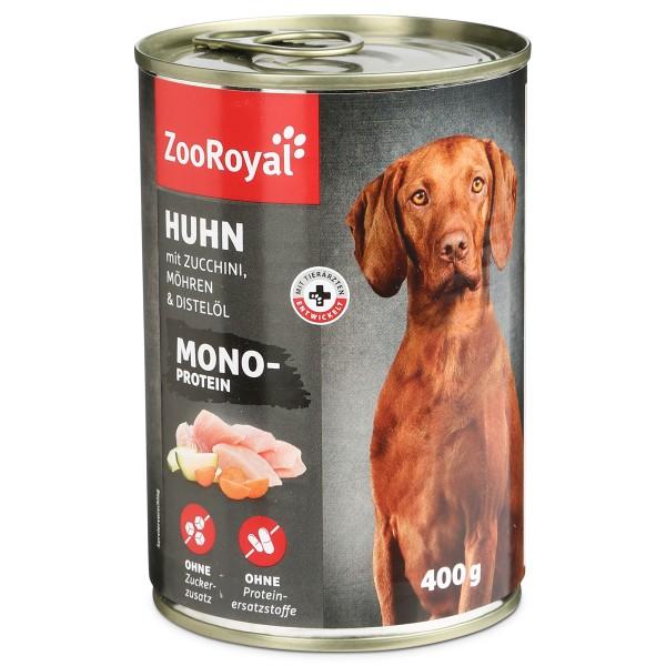 ZooRoyal Hunde-Nassfutter Mono-Protein Huhn mit...