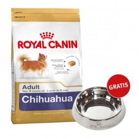 Royal Canin Chihuahua Adult 1,5kg + Edelstahlnapf silber gratis