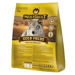 Wolfsblut Gold Fields Small Breed Kamel, Strauß & Süßkartoffel