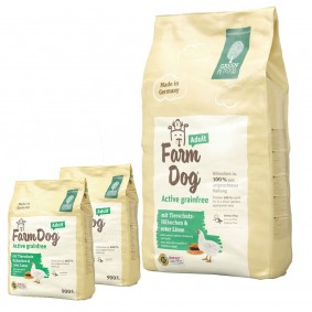 Green Petfood FarmDog Active grainfree 10kg + 2x900g gratis