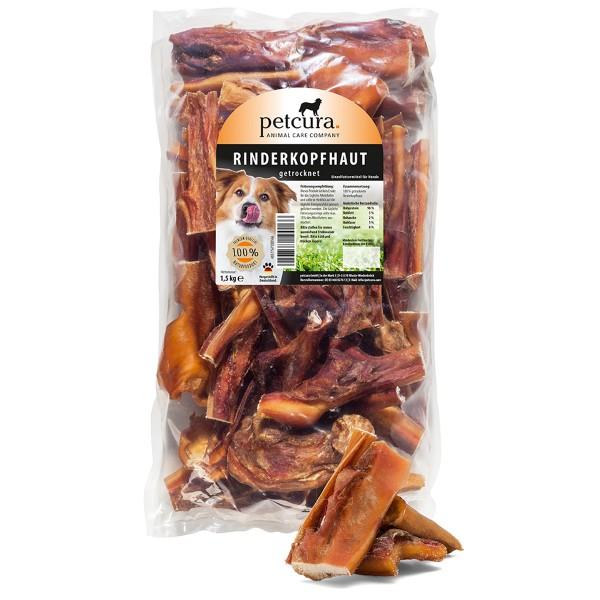 petcura Hundesnack Rinderkopfhaut 4,5 kg