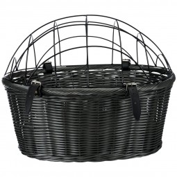 Trixie Fahrradkorb mit Gitter - grau