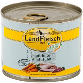 Landfleisch Cat Katzenfutter Schlemmertopf Ente & Huhn