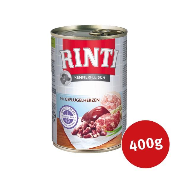 Rinti Nassfutter Kennerfleisch mit Geflügelherzen