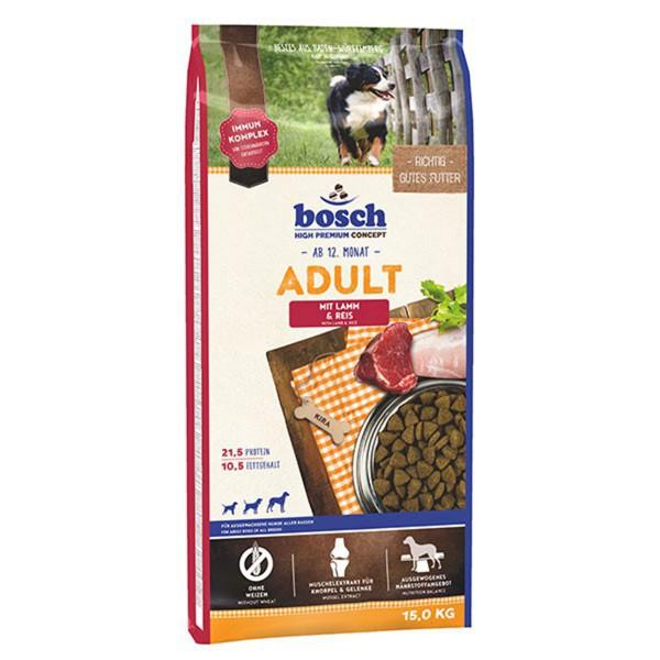 Bosch Hundetrockenfutter Adult Lamm & Reis - 15kg