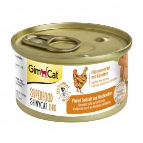 GimCat Superfood ShinyCat Duo Hühnchenfilet mit Karotten