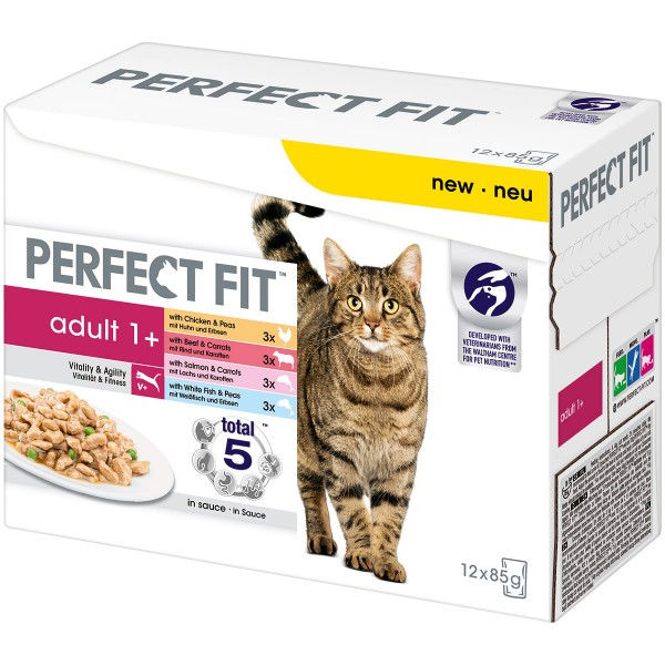 Perfect Fit Katzenfutter Adult 1+ Mix Multipack 12x85g