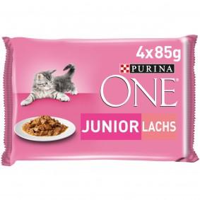 PURINA ONE JUNIOR Kittenfutter nass in Sauce Lachs