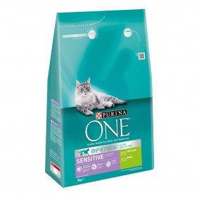 Purina One Bifensis Sensitive Reich an Truthahn und Reis 3kg