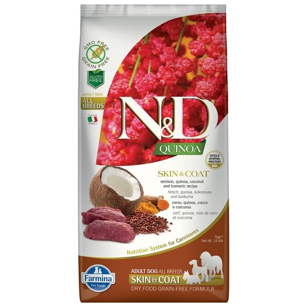Farmina N&D Dog Quinoa Skin & Coat Vension 7kg
