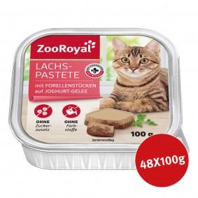 Jämlitz-Klein Düben Angebote - ZooRoyal Lachspastete mit Forellenstückchen auf Joghurt-Gelee 48x100g
