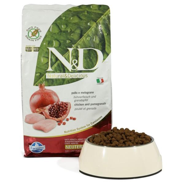 Farmina N&D Huhn&Granatapfel für kastrierte Kat...
